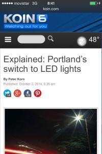 Iluminación en Portland