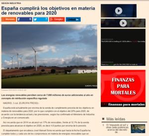 Avances de España en cuanto al uso de energías renovables