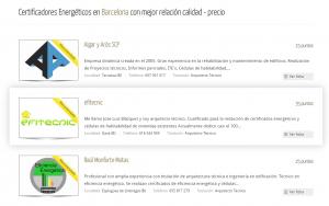 Localizador certificador energético en Barcelona