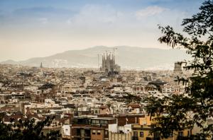 Barcelona Sky Line Sagrada Familia