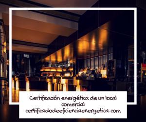 Certificación energética locales comerciales