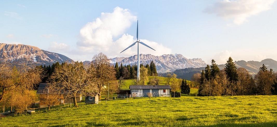 Campo molino energia eólica