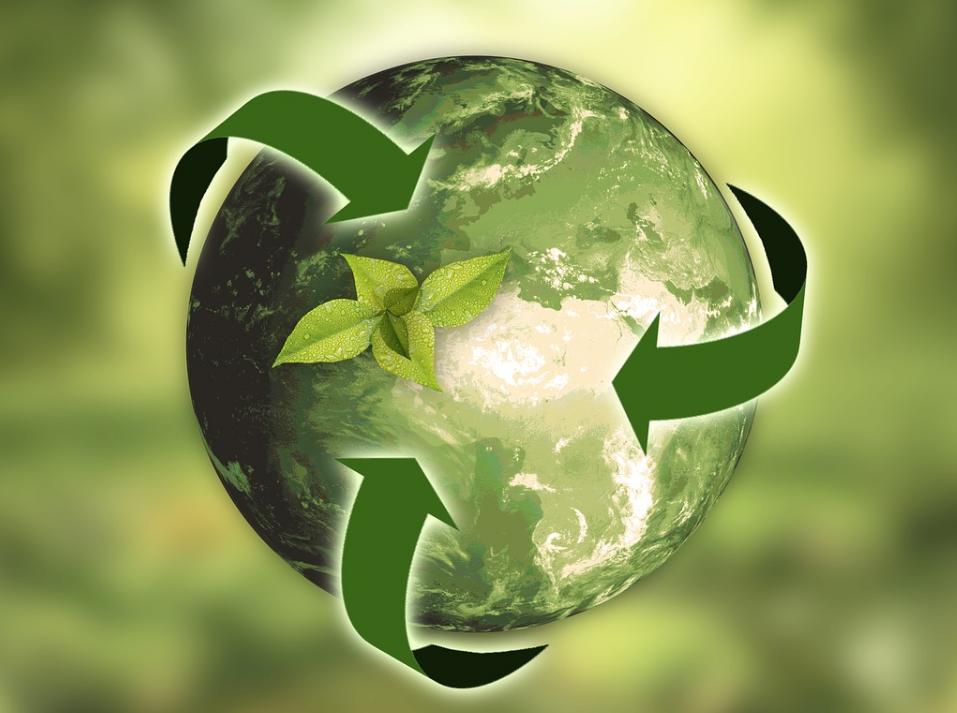 bola mundo energía encológica reciclable
