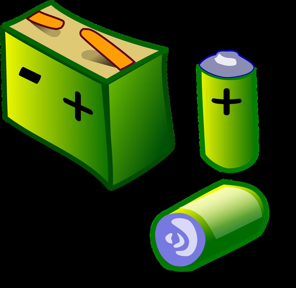 dibujo pilas baterias