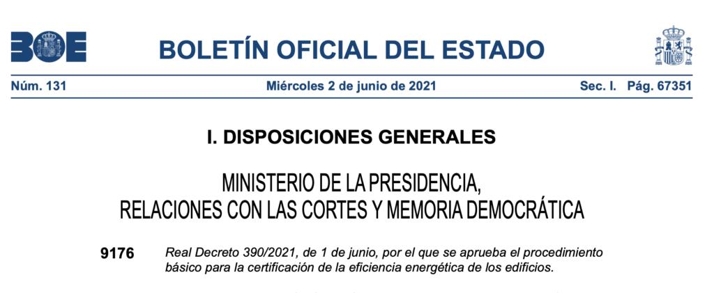 Real Decreto 390/2021, de 1 de junio