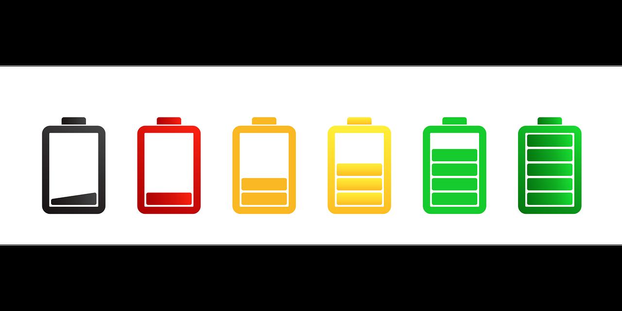 baterias pilas colores