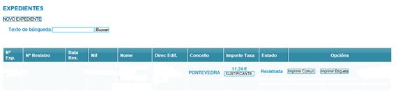 registro certificado energético galicia expediente