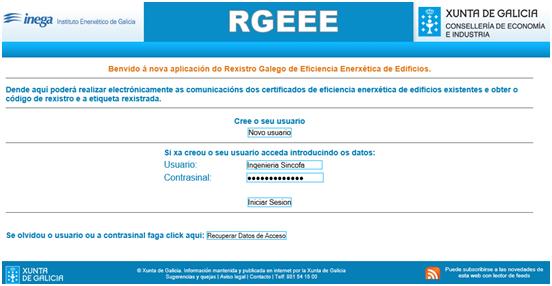 registro certificado energetico galicia