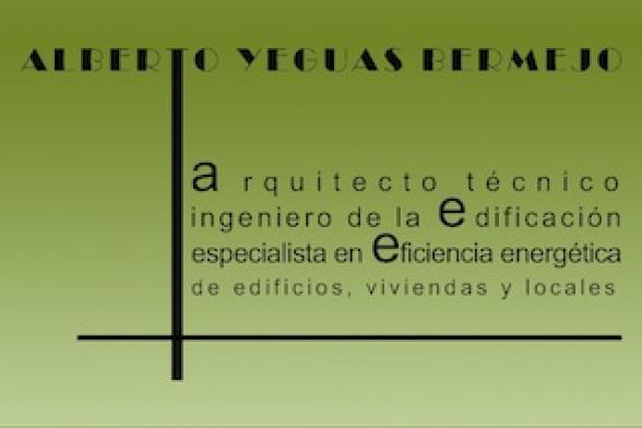 Alberto Yeguas Bermejo. Arquitecto Técnico y Especialista en Eficiencia Energética