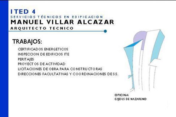 MANUEL VILLAR ALCAZAR - Certificado energetico albacete