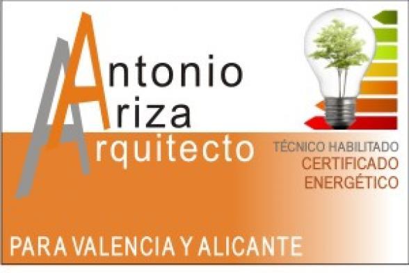 Antonio Ariza - ARQUITECTO certificado energetico Valencia Alicante