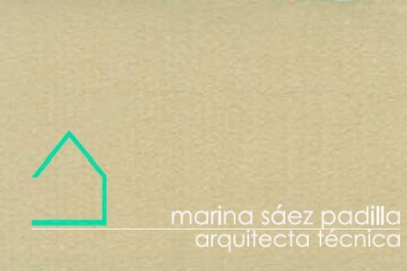 Marina Sáez Padilla - certificación energética